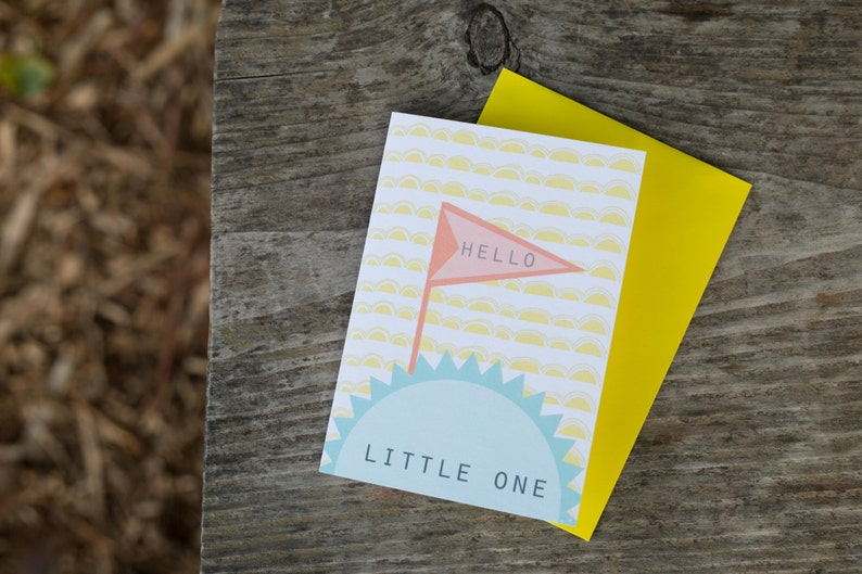 Hello Little One Blank Greeting Card image 0