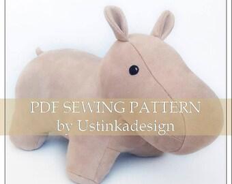 Elephant Pattern Elephant Plush Pdf Pattern Soft Toy Etsy
