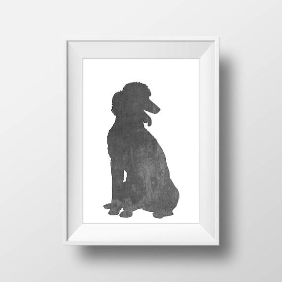Chalkboard Poodle Print Poodle Print Poodle art Dog decor   Etsy