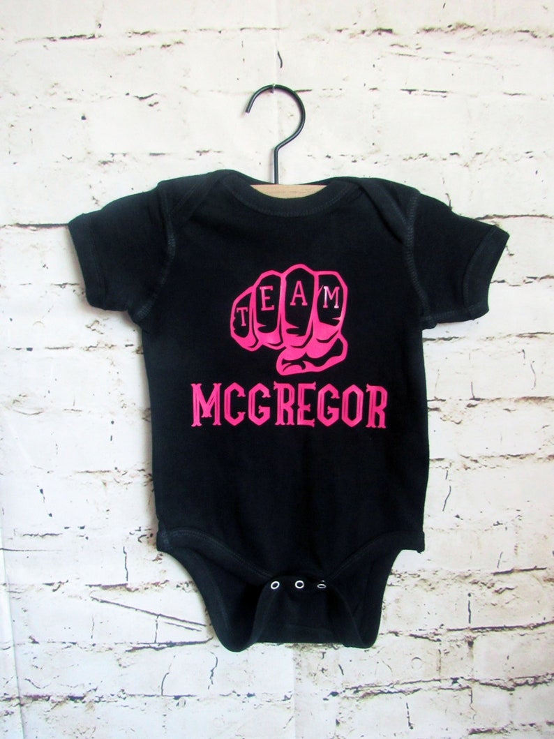 Team McGregor Notorious Conor McGregor bodysuit UFC fan