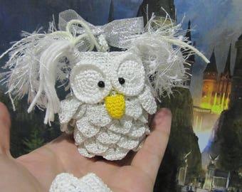 keychains owl white owl polar owl postal owl charming owl crochet owl ornament white bird fairytale owl cute owl pendant bag crochet owl