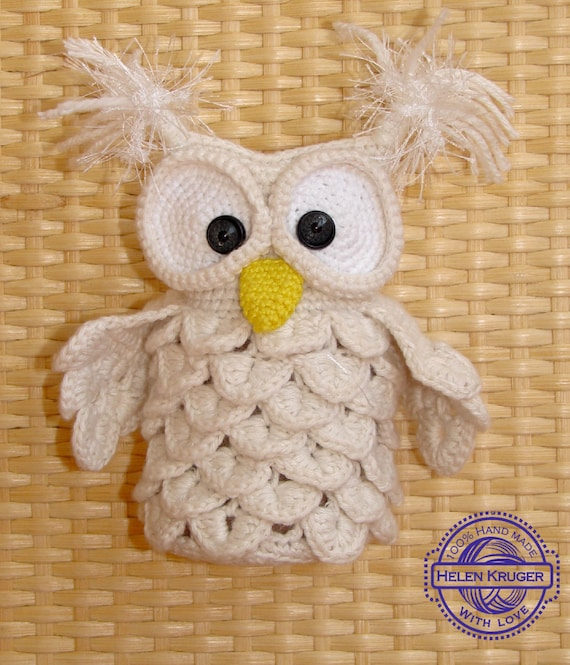 Schneeeule Spielzeug Hedwig Häkeln Weiße Eule Plüsch Eule Etsy