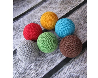Pet toy crochet play balls for puppies cats ferret gift