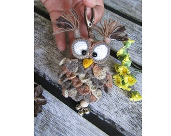 Keychain owl lover gift for her