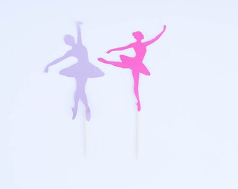 Ballerina Cupcake Topper, Ballerina Party, Dance Party, Dance Birthday, Ballet Birthday, Dance Toppers, Set of 12