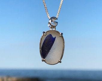 Sea Glass Necklace   Seaham Sea Glass   Sea Glass Jewelry   English Sea Glass   Sterling Silver Necklace   SeaGlass Necklace   Beach Glass