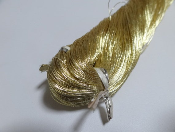 Japanese vintage high class gold leaf thread embroidery 5000M 1673