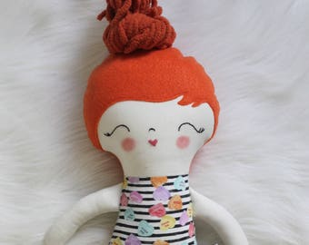 Gifts for Girls. Sweet Treats SweetHearts Girl Doll Plushie. Great for Easter Baskets and Birthday Dolls! Design You Own Plushie!