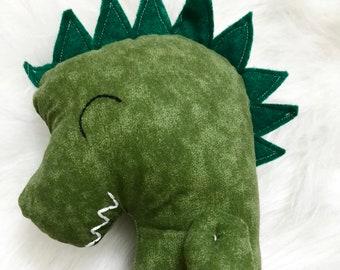 Green Dinosaur Plushie Doll. Boy Toys. Gifts for Boys. Nursery Decor. Handmade Stuffed Dinosaur Doll.