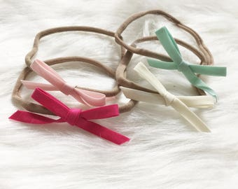 Sweet Treats Ribbon Bow Headbands. Several Colors to Pick. Design Your Own Plushie!