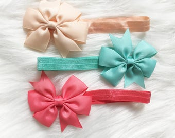 Sweet Treats Big Ribbon Elastic Headbands. Several Colors to Pick. Design Your Own Plushie!