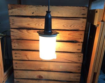 Industrial shop lamp, hand lamp 60's