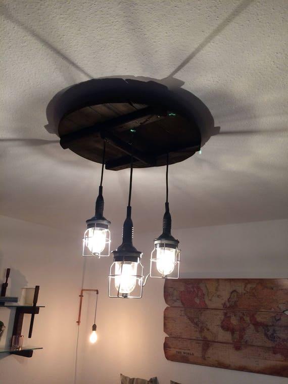Industrial Lighting Industrial Chandelier Reclaimed Wood Handmade Diy