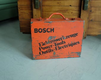Vintage Toolbox Metall Bosch Swiss-Made