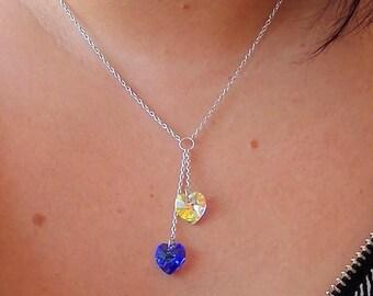 925 Silver necklace swarovski crystals