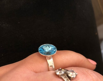 Silver ring 925 with swarovski crystal