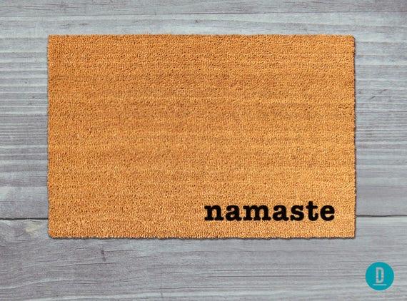Foyer Rug Juice : Namaste doormat door mat welcome yoga