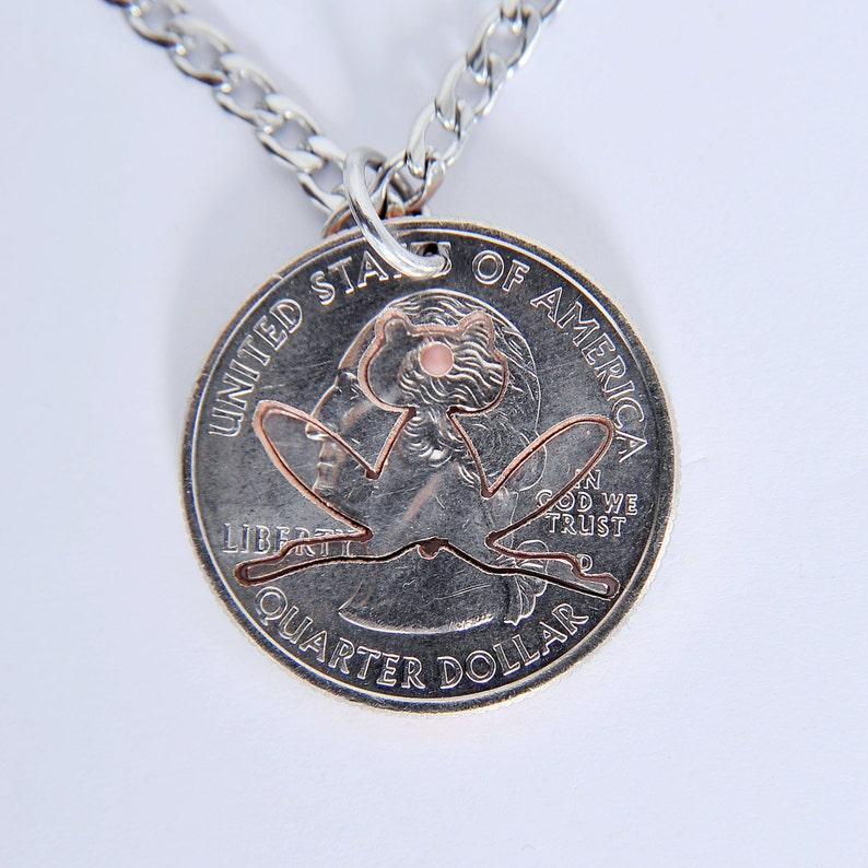 HS0058 quarter coin necklaces Frog interlocking necklaces