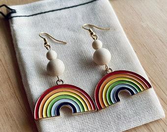 Rainbow dangle earrings - Drop earrings