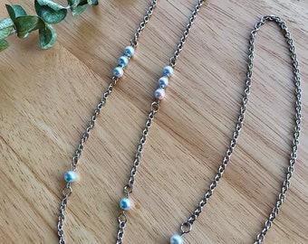 Mermaid pearl mask chain - Glasses chain - Classic style