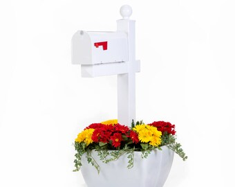 Snappot Planter Black Flower Pot For Mailbox Post Or Deck Post