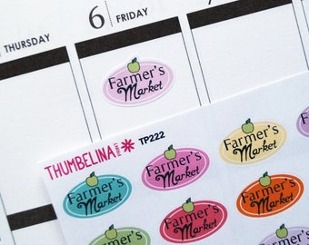 SALE! Farmers Market Planner Stickers for Erin Condren, Happy Planner and more (TP222)