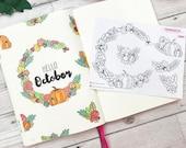 Autumn Fall Decorative Wreath Sticker For Bullet Journals, TN 39 s Erin Condren And More (TP392)