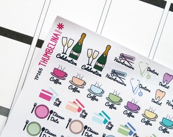 SALE! Icons With Writing Planner Stickers for Erin Condren, Folifax, Happy Planner and more (TP165)