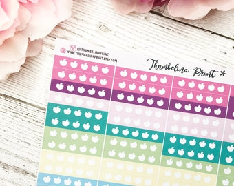 5 A Day Planner Stickers| Decorative & Functional Planning | Tracker Stickers | Health | Fruit And Veg | Health Tracker