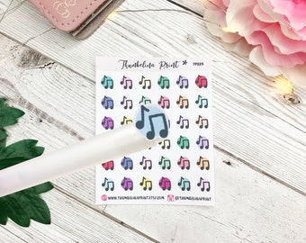 Music Note Planner Stickers | Decorative & Functional Planning | Music Lesson | Concert | Gig | Festival | Icon Stickers | Mini Icons