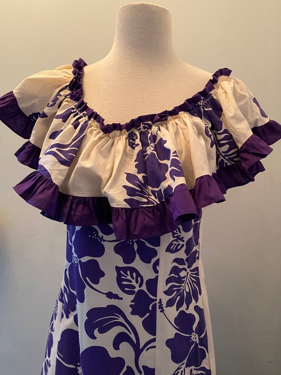Vintage Hawaiian Ruffle Dress