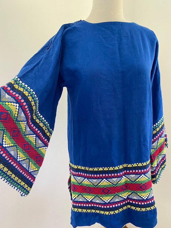 Vintage 70's Embroidered Bell Sleeve Tunic