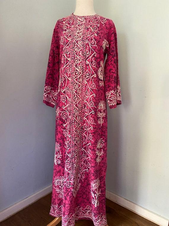 Vintage 1970's batik kaftan