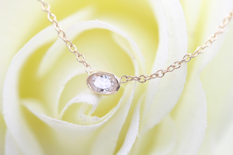 solitaire necklace dainty diamond solitaire pendant. Black Bedroom Furniture Sets. Home Design Ideas
