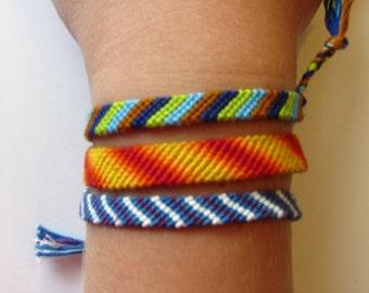 Candy Stripe Friendship Bracelets