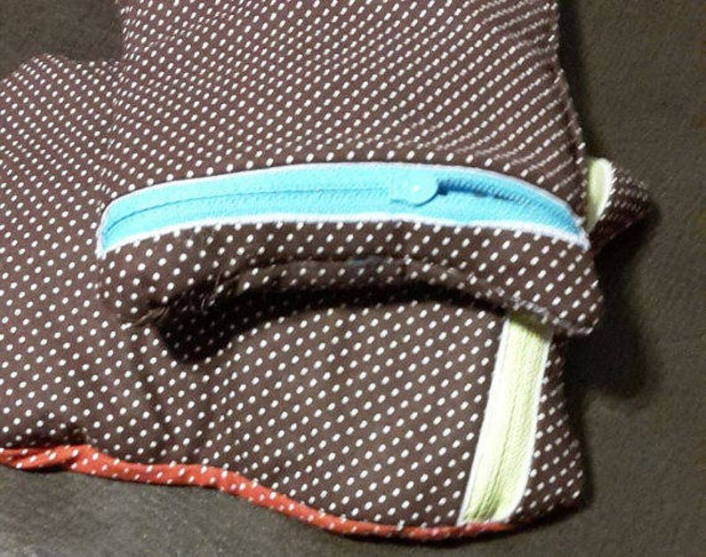 Ribbon Quilted Zipper Bag; mini wallet for walker or crutches; receipt organizer; quick travel tote; quick gift bag