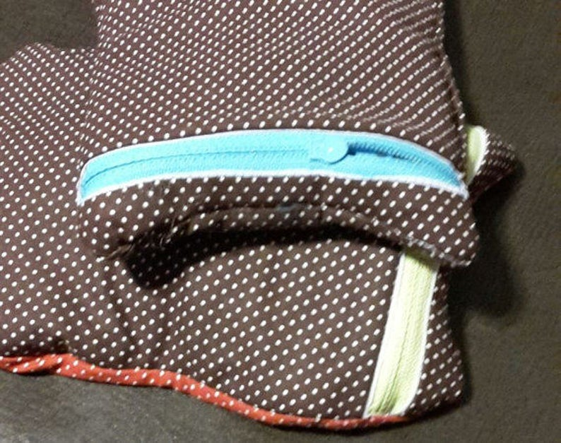 mini wallet for walker or crutches; receipt organizer; quick travel tote; quick gift bag Oh Honey I am That Mom Chihuahua Dog Pouch