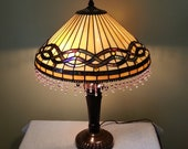 Stained Glass Lamp - Geometric Theme - Table Lamp