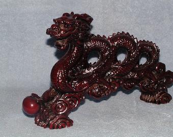 Asian Dragon - Resin Dragon - Dark Red