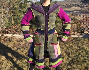 f45a4faf657 Candy Land Upcycled Sweater Coat