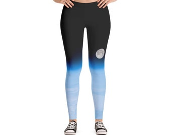 Moon and Earth Leggings | Activewear Clothing | Yoga Pants