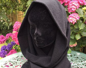 Pure cashmere hood / snood, plain knit snood, cowl, scarf by Willow Luxury