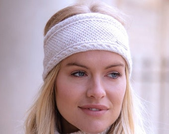 fluffy cashmere headband with mohair by Willow Luxury Cashmere headband  ear warmer one size