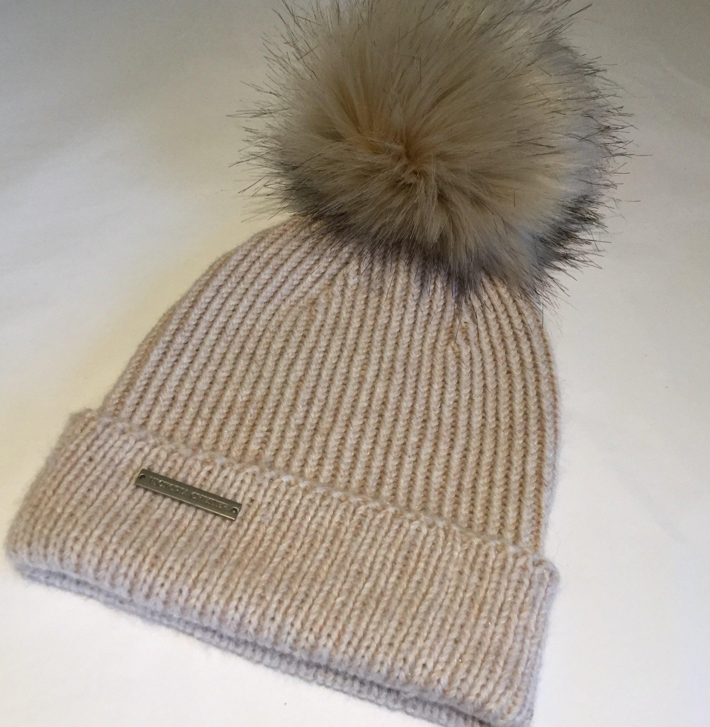 5a9a3e51cc0 Cashmere Pom Pom hat