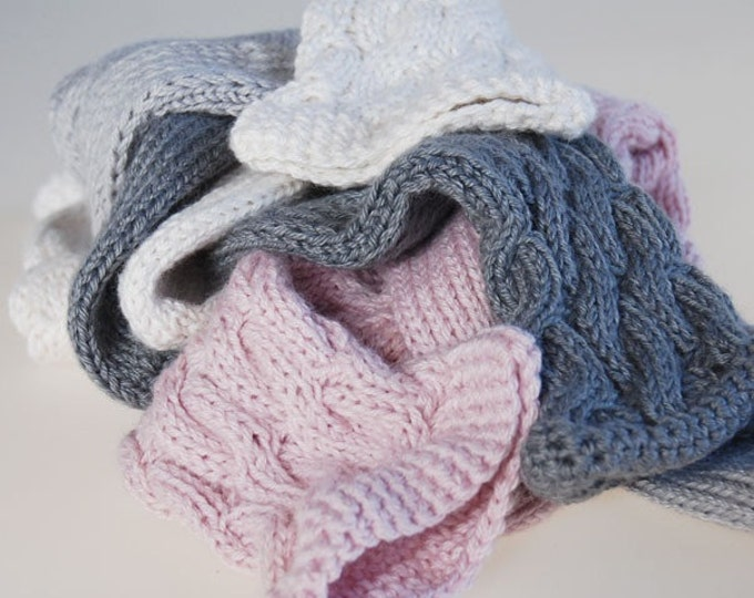 Ladies luxury alpaca & mulberry silk handmade cable bed socks by Willow Luxury