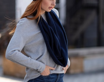Pure cashmere snood, lightweight snood, cowl, scarf by Willow Luxury