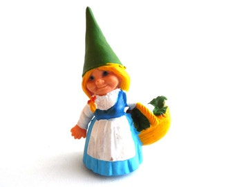 1 (ONE) Gnome figurine, Gnome after a design by Rien Poortvliet, Brb Gnome, Lisa the Gnome. #644G5DK1D