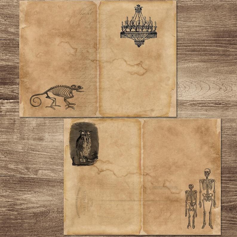 DIY Halloween Journal Creepy Halloween Journal Vintage Halloween Journal Halloween Writing Papers Halloween Journal Kit Printable