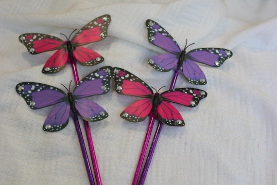 4 caleb and sophia style butterfly pens etsy