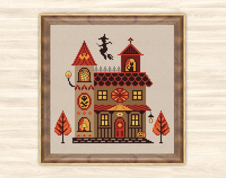 Buy 2 Get 1 Free Witch House Cross Stitch Pattern Scary Home Etsy